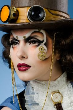 """The Watchmaker"" Make - up: Anna Gerus  Photographer: George BORISENKO #SteamPUNK ☮k☮ #provestra"