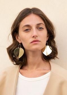 Rachel Comey Heartbreaker Earrings in Gold – The Frankie Shop Statement Earrings, Drop Earrings, Hair Decorations, Rachel Comey, Clay Jewelry, Jewellery, Ear Piercings, Heart Shapes, Jewels