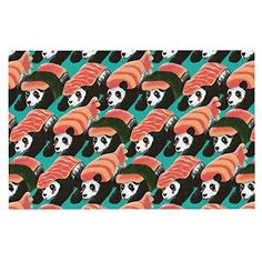 KESS InHouse Tobe Fonseca 'Sushi Panda' Orange Blue Dog Place Mat, x >>> You can find out more details at the link of the image. (This is an affiliate link and I receive a commission for the sales) Orange Throw Pillows, Decorative Throw Pillows, Dog Food Container, Woven Wall Hanging, E Design, Floor Pillows, Wall Tapestry, Sushi, Panda