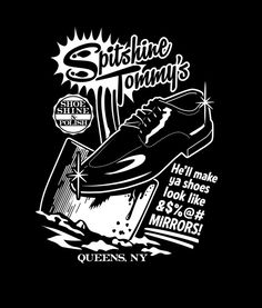 "Goodfellas - ""Spitshine Tommy's shoe shine polish. He'll make ya shoes look like &$@# mirrors!"" #GangsterMovie #GangsterFlick"
