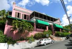 Historical Hotel 1829 on St. Thomas in the U.S. Virgin Islands.