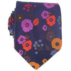 Men's Ties - Windsor Faroe Floral Tie by Duchamp #Ties #Duchamp
