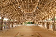 Bamboo Sports Hall for Panyaden International School / Chiangmai Life Construction