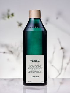 Menaud - Custom Bottle Design & Brand Identity on Behance Beverage Packaging, Bottle Packaging, Brand Packaging, Design Packaging, Food Packaging, Coffee Packaging, Packaging Ideas, Vodka, Label Design