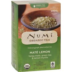 Numi Tea Mate Lemon Rainforest Green Tea - 18 Bags