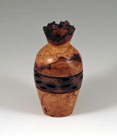 Cherry Burl & Banksia Pod Vase