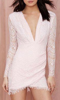 Reverse Havana Lace Dress - Pink
