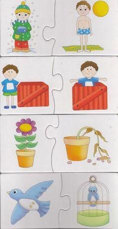 eslestirme-egitici-kartlar-1 Kindergarten Activities, Preschool Activities, Teaching Kids, Kids Learning, Emergent Literacy, Sequencing Cards, File Folder Activities, Learning Through Play, Childhood Education