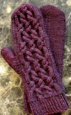 knit mittens #5kcbwday3