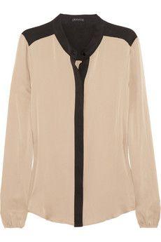 TheoryGerina silk blouse