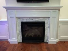7 Superb ideas: Double Sided Fireplace Built Ins simple fireplace design.Fireplace And Mantels Entertainment Center large black fireplace. Wood Fireplace Surrounds, Fireplace Hearth, Home Fireplace, Fireplace Remodel, Fireplace Inserts, Fireplace Design, Fireplace Ideas, Fireplace Update, Fireplace Outdoor