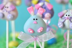 Bunny Cake Pops  Easter