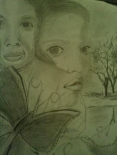 """Pencil Drawing entitled: """"It's as if You Were a Butterfly in My Dreams"""""""