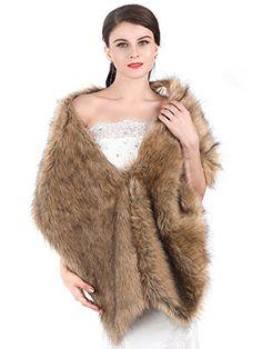 Aukmla Women's Fur Wraps for Wedding Faux Stole Shrug Win... https://smile.amazon.com/dp/B074SLML4B/ref=cm_sw_r_pi_dp_x_o3N6zbR937KK8