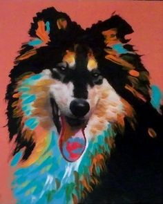 Collie Dog Art 8 x 10 Print Poster of Painting by SwiftArtStudio, $10.00