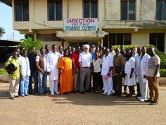 En Juin 2014, à Lomé au Togo: La Chaîne de l'Espoir a assuré deux formations en chirurgie viscérale et orthopédique auprès de chirurgiens Togolais et Ivoiriens.