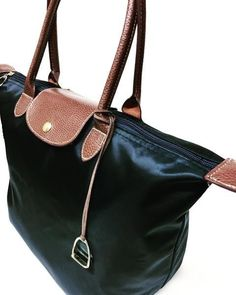 Water-resistant nylon tote bag purse, featuring Horse Stirrup Accent and Charm by Ideana