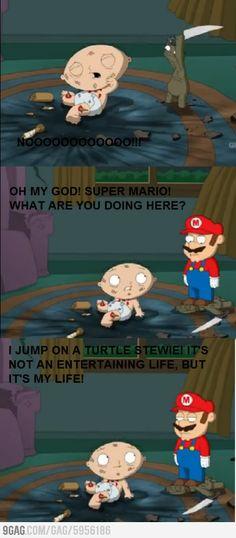 Mario an Stewie