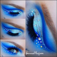 Frozen inspired eyeshadow look