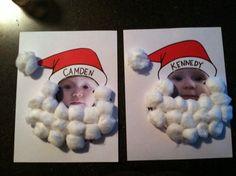 Nosso Espaço Educando: Lembrancinha de Natal - rostinho do aluno na moldura do Papai Noel.