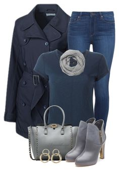 """""""CUTTER & BUCK TRENCH COAT"""" by arjanadesign ❤ liked on Polyvore featuring moda, Cutter & Buck, Paige Denim, rag & bone, Valentino, Rupert Sanderson, David & Young y Charlotte Russe"""