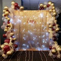 Awesome quinceanera party themes the original source 21st Birthday Decorations, Quince Decorations, Quinceanera Decorations, Gold Party Decorations, Birthday Backdrop, 18th Birthday Party, Quinceanera Party, Party Themes, Party Ideas