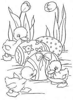 Print and color Easter Coloring Sheets, Spring Coloring Pages, Coloring Easter Eggs, Coloring Book Pages, Coloring Pages For Kids, Colorful Drawings, Colorful Pictures, Easter Colors, Easter Activities