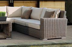 Thos. Baker Hampton Wicker Cushion Outdoor Sectional Corner Set