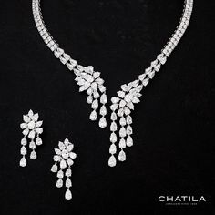Who could say no to that?  lovely Chatila necklace and earrings. #amirigems…