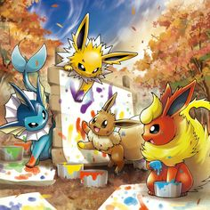 Ghost Type Pokemon, Pokemon Fan Art, All Pokemon, Pokemon Stuff, Pokemon Eeveelutions, Eevee Evolutions, Pokemon Original, Pokemon Painting, Anime Toon