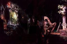 Haunted Mansion attic, Reginald and Constance area