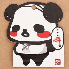 funny Ojipan panda bear comedy show sticker sack from Japan 1