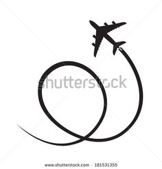 black airplane silhouette