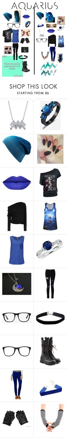 """Aquarius♒️"" by supernatural1234 ❤ liked on Polyvore featuring Tom Ford, WithChic, BOSS Orange, Blue Nile, Miss Selfridge, Ace, Carrera, Rick Owens, Karen Millen and Dr. Martens"