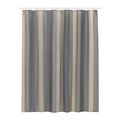IKEA - BJÖRNÅN, Shower curtain, Densely-woven polyester fabric with water-repellent coating.The elastic sewn into the bottom edge adds weight to the curtain and assures that it hangs straight.