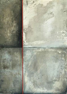 """brenda holzke CONCRETE IDEAS- 28""""x40""""- joint compound , acrylic and latex on board"""
