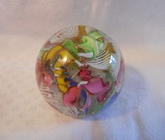 Antiques Atlas - Italian Murano Scramble Paperweight Paper Weights, Murano Glass, Clear Glass, Antiques, Antiquities, Antique, Old Stuff