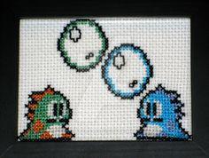 Bubble Bobble - Bub and Bob by GamingBitCrossStitch.deviantart.com on…