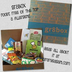 Mommie Again: Foods Free of the Top 8 Allergens - gr8box - A Brand New Subscription Box