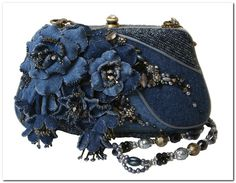 Love Mary Frances Handbags reminds me of TinaMary Frances Ladies Who LunchLadies Who Lunch by Mary Frances Looking for that perfect bag to bring out with…denim Denim, Beads, and Fabric Flowers.Bags Handmade: Always in trend: denim handbag Mary Frances Purses, Mary Frances Handbags, Beaded Purses, Beaded Bags, Ladies Who Lunch, Denim Handbags, Denim Crafts, Recycled Denim, Denim Bag