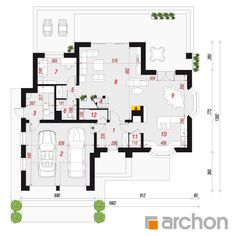 Dom w kalateach 3 Pent House, Architecture Design, Home Goods, Floor Plans, House Design, How To Plan, Mansions, House Styles, Nice Houses