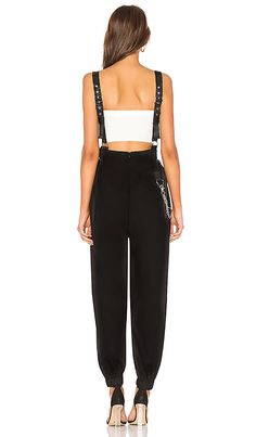 GIA Cobra Overalls in Black at REVOLVE. Free day shipping and returns, 30 day price match guarantee. Revolve Clothing, Overalls, Sweatpants, Shopping, Clothes, Black, Dresses, Fashion, Outfit
