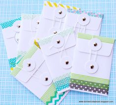 My Domestic Daybook: Washi Tape Envelopes