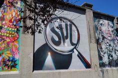 """Spok.Proyecto """"Muros"""".#ArteTabacalera Promoción del Arte #ArteUrbano #StreetArt Madrid Día de la Inauguración. #Arterecord 2014 https://twitter.com/arterecord"""