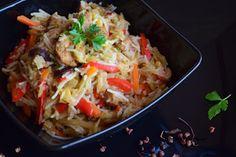 Kuchnia Koloru Blond: Peudochińskie danie jednogarnkowe Cabbage, Curry, China, Chicken, Meat, Vegetables, Food, Curries, Essen