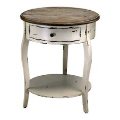 Cyan Design Abelard Side Table in Distressed White & Gray Finish End Tables For Sale, Round End Tables, Round Accent Table, End Tables With Storage, Accent Tables, Round Dining, Design Lounge, Design Loft, Table Design