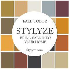 Fall Paint Color Palettes for your Home. Browse, Create and Share your Own Beautiful Color with #ColorLife and #GeneralPaint  Stylyze.com