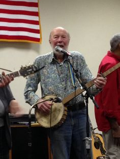 Pete Seeger hammering on far and wide and yet seen as a local vocal.