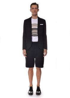 Michel Brisson - Spring Summer 2015 - Menswear // Neil Barrett blazer, shorts, t-shirt - Saint Laurent Paris shoes