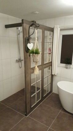 Glasfenster als Trennwand Glasfenster als Trennwand The post Glasfenster als Trennwand appeared first on Landhaus ideen. diy bathroom decor Glasfenster als Trennwand House Bathroom, Bathrooms Remodel, Rustic Bathrooms, Framing A Basement, Home, Shower Remodel, Bathroom Design, Home Decor, Shower Cabin